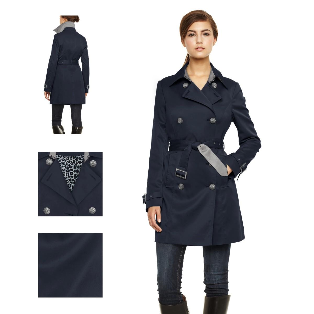 fdcc612ff179 Je veux trouver un beau trench femme d automne ou d hiver pas cher ICI  Trench femme bleu