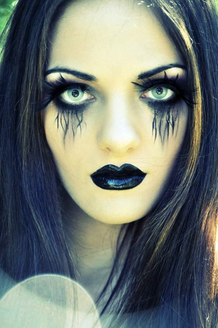 maquillage halloween femme je suis s re de tous les effrayer. Black Bedroom Furniture Sets. Home Design Ideas
